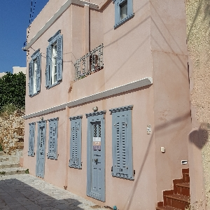 Traditional house in Ermoupolis with view to the sea