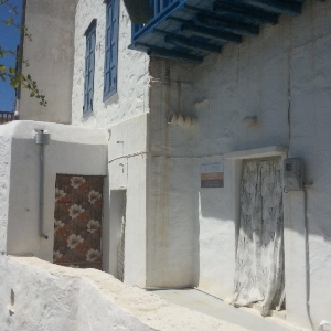 Traditional Cycladic house at Ano Syros